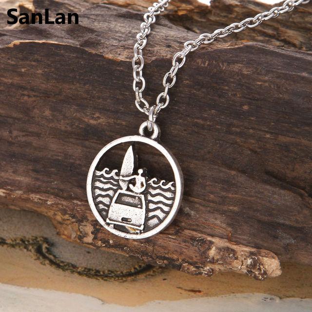 Surf Sea Pendant Necklace