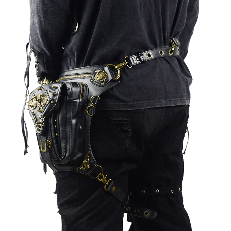 Steampunk Skull Waist Bag Messenger Shoulder Leg Bag Gothic Unisex Female Male Fanny Bag Personality Men Women Crossbody Bags 3