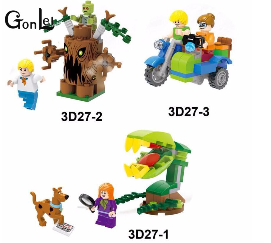 GonLeI Scooby-Doo Mummy Museum Mystery Building Block Model Kits Scooby Doo Marvel compatible lepin Toys for children bela 10429 scooby doo mummy museum mysterious plane minifigures building block minifigure toys best legoelieds toys
