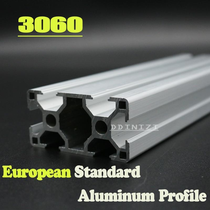 CNC 3D Printer Parts European Standard Anodized Linear Rail Aluminum Profile Extrusion 3060 for DIY 3D printer hot sale cnc 3d printer parts european standard anodized linear rail aluminum profile extrusion 2080 for diy 3d printer