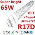 10pcs led tube t8 8ft 2.4m 2400mm 65w 7000lm R17D led tube light AC85-277V led fluorescent tube lamp