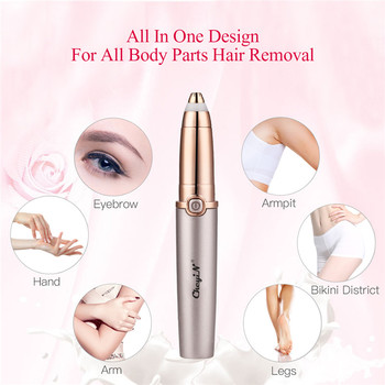 Mini Electric Eyebrow Trimmer USB Rechargeable 3D Arch Blade Hair Removal Pen Lady Shaver Leg Arm Bikini Shaving Razor Women P42 - discount item  37% OFF Personal Care Appliances