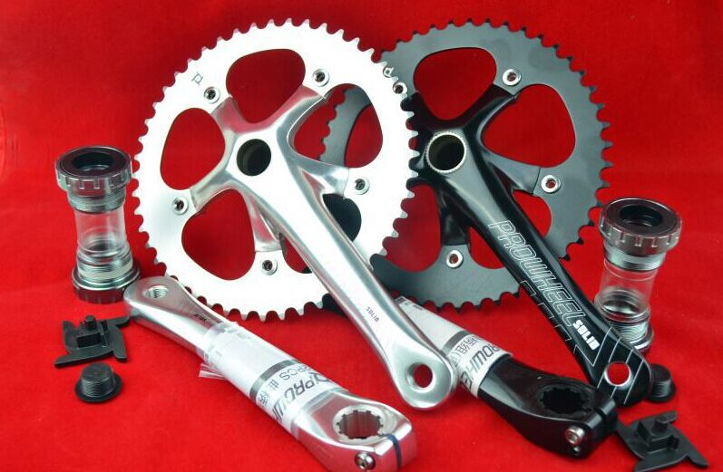 Prowheel Integrated crankset Chain Wheel 48T tooth plate Single speed bike Fixed Gear crankset for 412