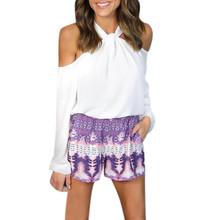 summer Womens sexy blouses girl Sexy Long Sleeve Off The Shoulder MT