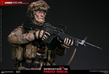 """Scale 1/6 figure DAMTOYS  Red Sea PLA Navy Marine Corps """"Jiaolong"""" Special Operations Brigade  SAW Gunner Zhang Tiande Rocky collagen active tiande"""