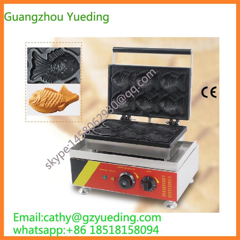Korean sale fish shaped waffle iron/ice cream taiyaki machine taiyaki maker with ice cream filling taiyaki machine for sale ice cream filling to fish shaped cake fish cake maker