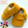 Baby Moccasins genuine leather baby first walker toddler girls shoes tassels cow suede newborn boys matte-leather soft sole