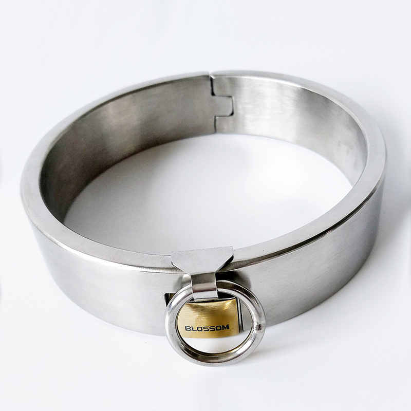 stainless steel bondage collar sex with lock o-ring neck collar adult games bondage restraints harness sex toys for couples stainless steel spreader bar leather harness hand ankle cuffs metal bondage restraints frame adult games sex tools for couples