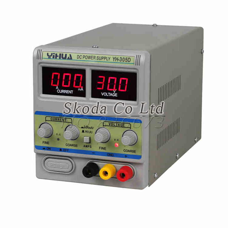 Free shipping YH305D high-precision adjustable DC power supply 30V5A For mobile phone laptop repair A/mA switching power supply kuaiqu high precision adjustable digital dc power supply 60v 5a for for mobile phone repair laboratory equipment maintenance