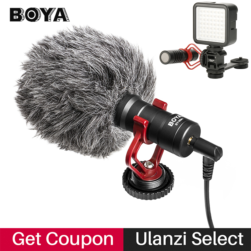 BOYA BY-MM1 Phone Video Shotgun Microphone Vlogging Recording Mic for iPhone Nikon Canon DSLR Camera/Smooth 4/DJI Osmo Gimbal