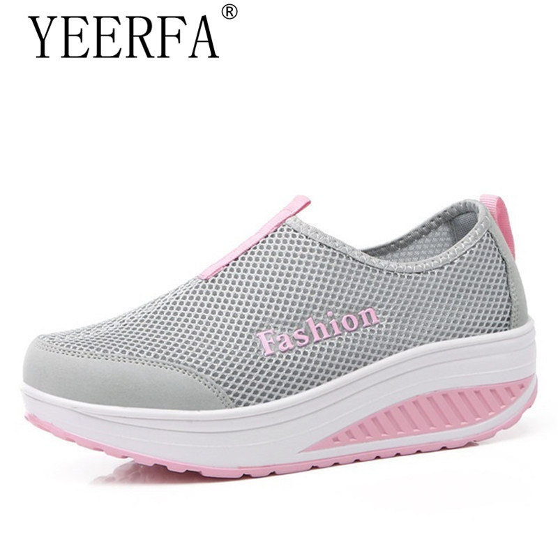 YIERFA 2017 Casual Shoes Women Ankle Shoes Spring Autumn Platform Shoes Women Zapatos Mujer Slimming Swing Shoes Chaussure Femme women canvas shoes 2017 spring autumn classic vulcanize women shoes footwear ladies creepers flats zapatos mujer chaussure femme