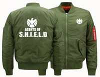 USA size 2018 NEW Flight Jacket Agents of Shield S.H.I.E.L.D. High Quality clothing mens Air Force Men Bomber baseball Jacket