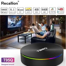 T95Q Android 8.1 TV BOX LPDDR4 Amlogic S905X2 4GB 64GB Quad Core 2.4G&5GHz Dual Wifi BT4.1 1000M H.265 4K Media Player Smart Box mecool kii pro android 7 1 tv box quad core amlogic s905d cpu support 2 4 5ghz wifi smart tv box 4k h 265 bt4 0 media player