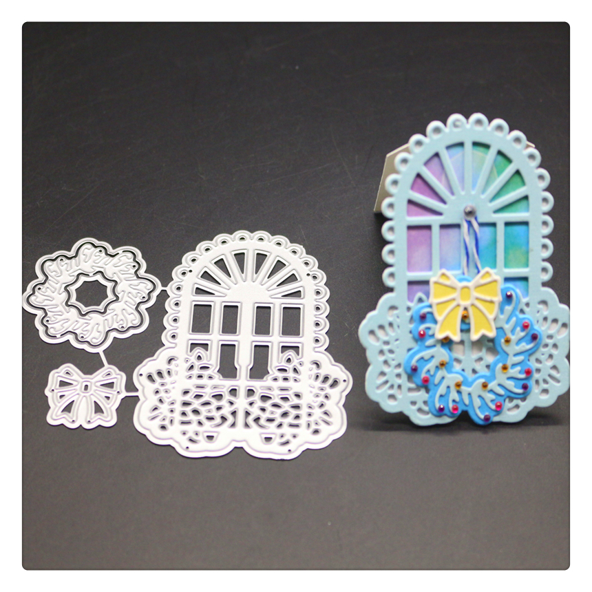 YINISE Die Cut Metal Cutting Dies For Scrapbooking Stencils  Bow Tags DIY Album Cards Decoration Embossing Folder Cuts