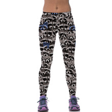 New 541 Sexy Girl leggins Cute animal raccoon koala Panda Warrior Printed Polyester Elastic Fitness Workout Women Leggings Pants