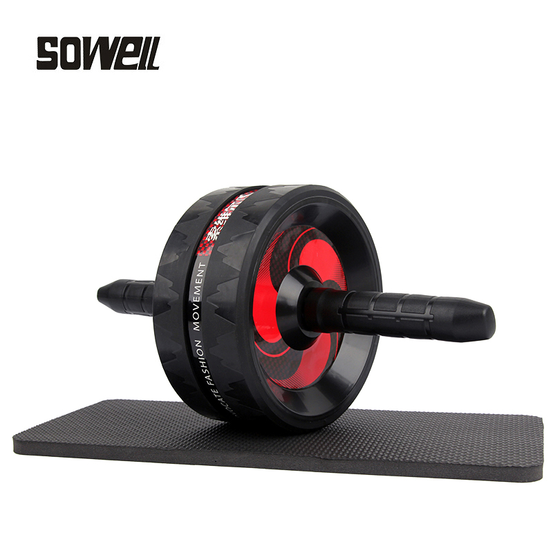 Ab Roller Exercise Fitness Ab Wheel Muscle Training Double-wheel Apparatus Press Roll Abdominal Muscle Gym Equipment Weight Loss