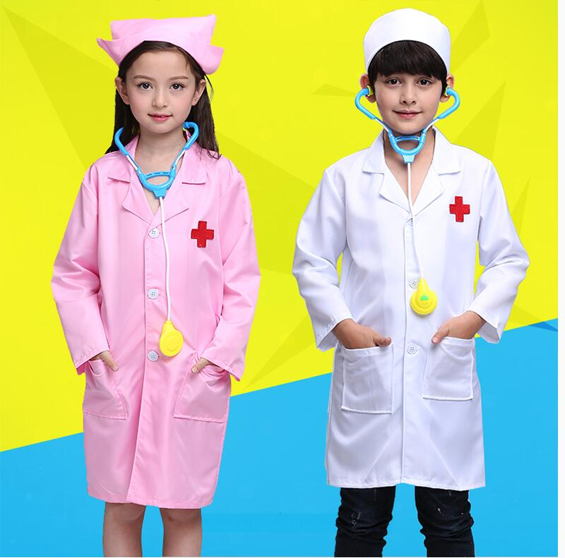 Us 14 81 22 Off Child White Doctor Halloween Costume Girl Nurse Costume Kindergarten Party Performance Dance Costume Medical Clothing Lab Coat 8 In