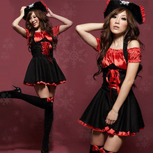 Sexy Pirates Cosplay Dress Jazz Dance Clothes Uniform Temptation Halloween Costumes For Women -MX8