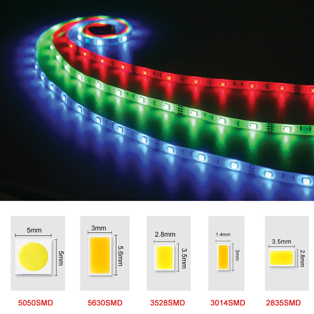 Dc12v Rgb Led Strip Light Smd 5050 5630 3528 2835 Fita Led