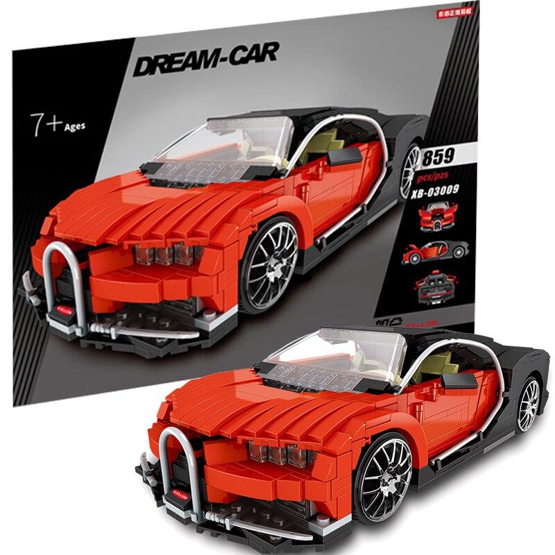 XingBao 859 pièces le Gallon Super voiture legoings créateur MOC Technic modèle blocs de construction briques technicien bricolage jouets pour enfants