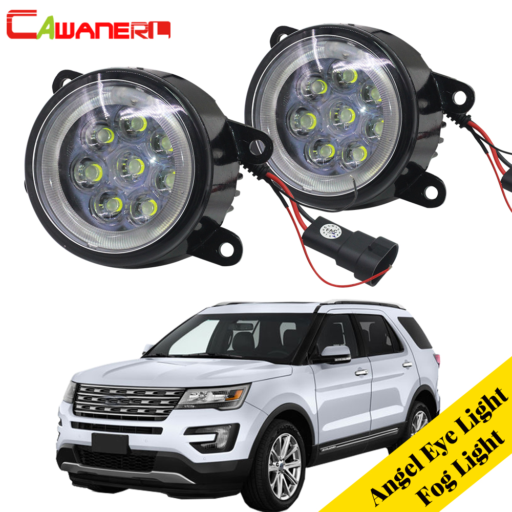 цена на Cawanerl 2 Pieces Car Light Source LED Fog Light Angel Eye DRL Daytime Running Light 12V For 2011 2012 2013 2014 Ford Explorer
