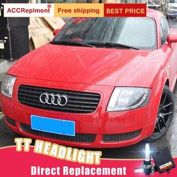 2Pcs LED Scheinwerfer Für Audi TT 1999-2006 Led Auto Lichter Engel Augen Xenon HID KIT Nebel Lichter LED Tagfahrlicht
