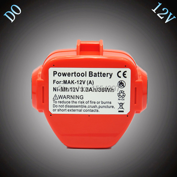 Sale 12V Ni-Mh 3000mAh Rechargeable Battery Replacement for Makita Power Tool Battery 1200 1220 1201 1222 1223 PA12 192681-5
