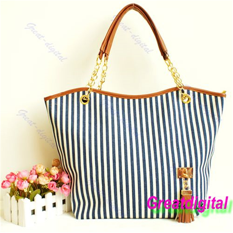 Large Capacity Brand New Stylish Women Handbag Ladies Shopping Stripes Tassel Tote Shoulder Bag Linen Hot Casual Bucket Zip Hard 2016 rainbow stripes tote bag stylish hollow out beach bag ladies shoulder handbag summer shopping bag for women big m47