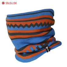 цена на Winter Outdoor Warm Scarf Knitted Face Mask Men Double-deck Polar Fleece Windproof Ski Bicycle Loop Scarf Male Warm Neck