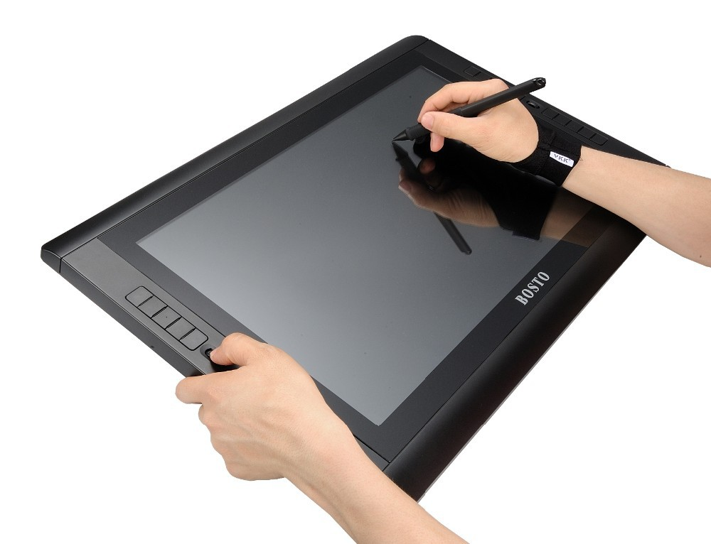Image 3 - BOSTO Artista KINGTEE 22HDX,Graphics Tablet to Draw with battery free pen Drawing Glove 20pcs express key and Adjustable Stand-in Digital Tablets from Computer & Office