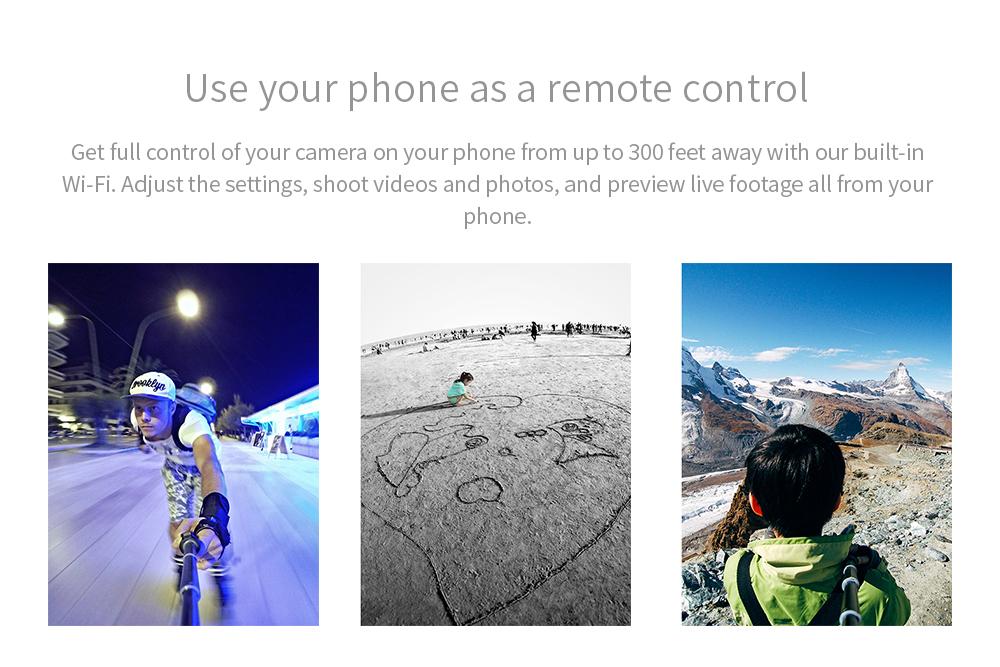 YI Action Camera 1080P Lime Green White Black 16MP Full HD 155 degree Ultra-wide Angle Sports Mini Camera 10