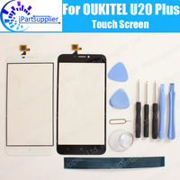 OUKITEL U20 Plus Touchscreen Glas 100% Garantie Originele Digitizer Glas Panel Touch Vervanging Voor OUKITEL U20 Plus + Geschenken-in LCD's voor mobiele telefoons van Mobiele telefoons & telecommunicatie op