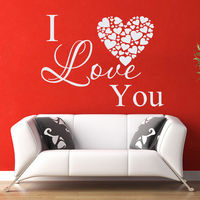 Wall Decal Quotes I Love You Decal Heart Vinyl Sticker Bedroom Home Decor