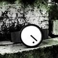 Наручные часы Enmex в минималистическом стиле с креативным дизайном, простые Стильные кварцевые часы с ремешком в горошек и линией, 2019
