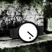 цена на 2019gift Enmex  Minimalist style wristwatch creative design Dot and Line simple dail stylish steel band quartz  fashion watch