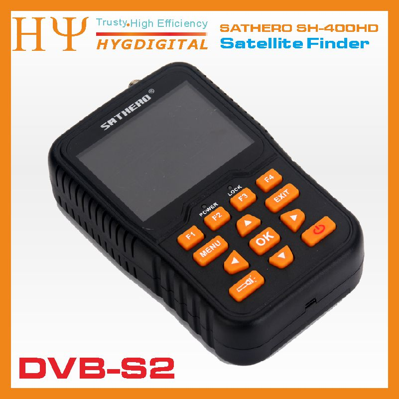 sathero SH-400HD 3.5 inch LCD Screen DVB-S2 & DVB-S Signal Finder Support 8PSK 16APSK Digital Meter Sathero 400HD original dvb t satlink ws 6990 terrestrial finder 1 route dvb t modulator av hdmi ws 6990 satlink 6990 digital meter finder