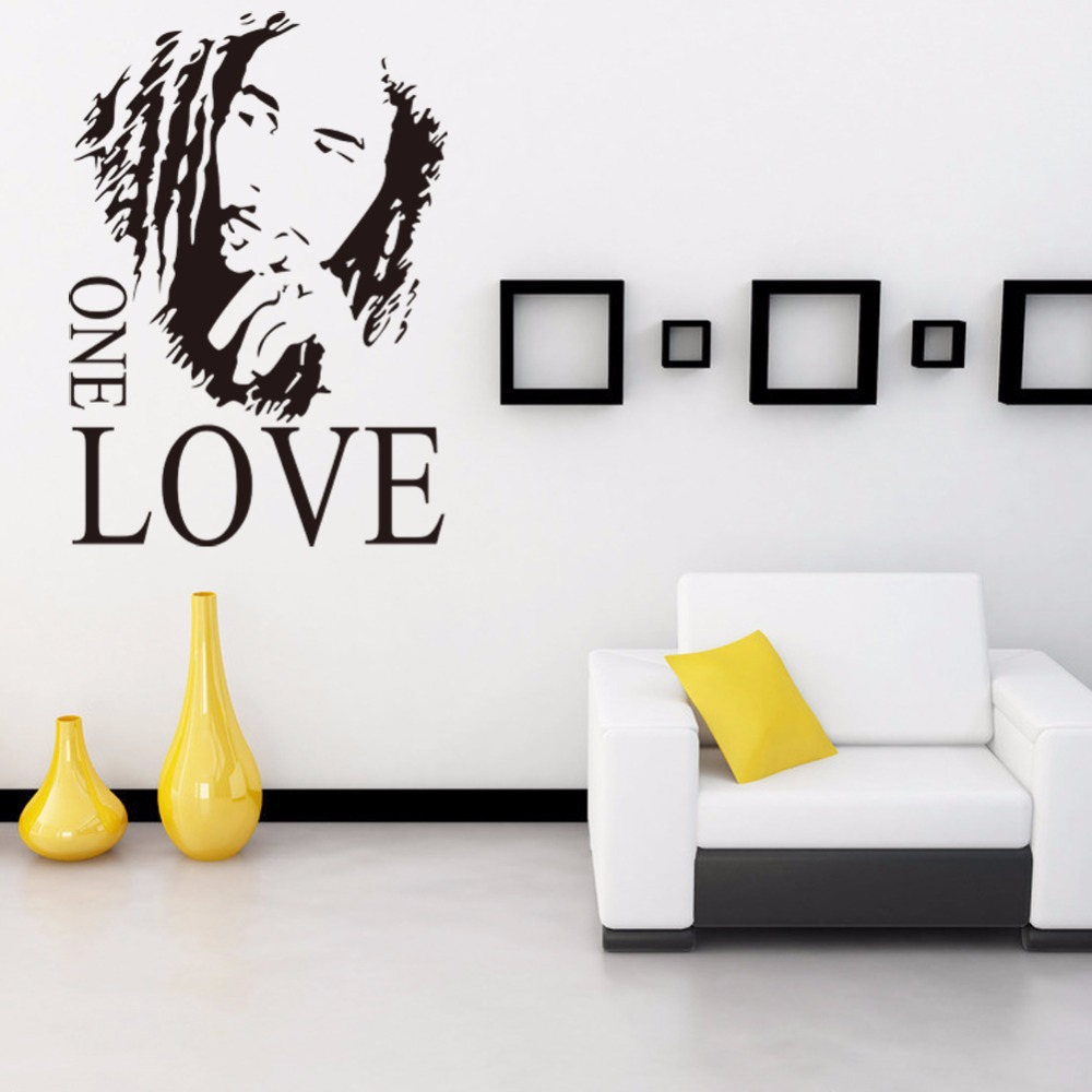 2016 wall stickers home decor one love diy wall sticker quotes decals removable art vinyl letter