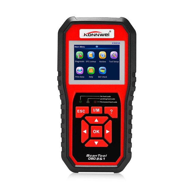 New Price New Best KONNWEI KW850 OBD2 ODB2 Automotive Scanner Multi-languages Full OBDII Function Auto Diagnostic Tool Better Autel AL519
