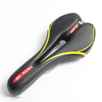 Q059 Free Shipping Bicycle Seat Sales Are Durable PU Leather Saddle Mountain Bike Saddle Color Optional