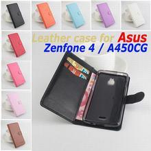 Классический роскошный кожаный чехол для Asus Zenfone 4 A450CG откидная крышка корпуса с карт памяти ZenFone4 A 450CG телефон Чехлы