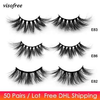 50 Pairs Free DHL Visofree 25mm Lashes Dramatic Mink Lashes Soft Long 3D Mink Eyelashes Crisscross Full Volume Eye Lashes Makeup - DISCOUNT ITEM  31% OFF All Category