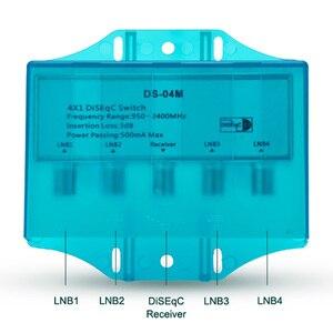Image 3 - עמיד למים 4x1 DiSEqC 1.0 2.0 מתג 950 2400MHz לווין Lnb FTA צלחת LNBS או לווין מקלט