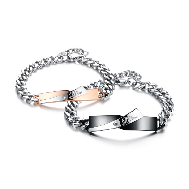 Hot Real Love Couple Bracelets Stars Shaped Stainless Steel Bracelet Valentines Day Personalized Exquisite Gifts Lovers Bangle