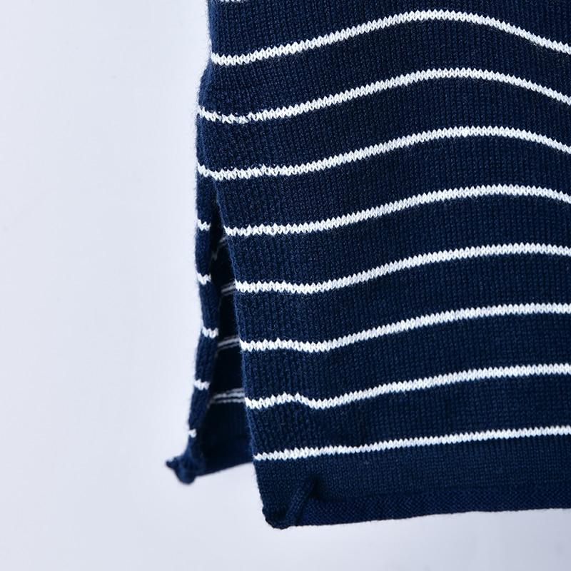 Z1960 Grand Lâche Femelle Black Est Artistique the khaki V Col Blue Bas Bande Tricots Taille Confortable Et htdsrQ