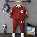 Toddler Boy Clothing Set 2015 Sprinf Autumn High Quality Zipper Coat Pant Kids Set Boys Tracksuit Children Sport Suit 2-8Years