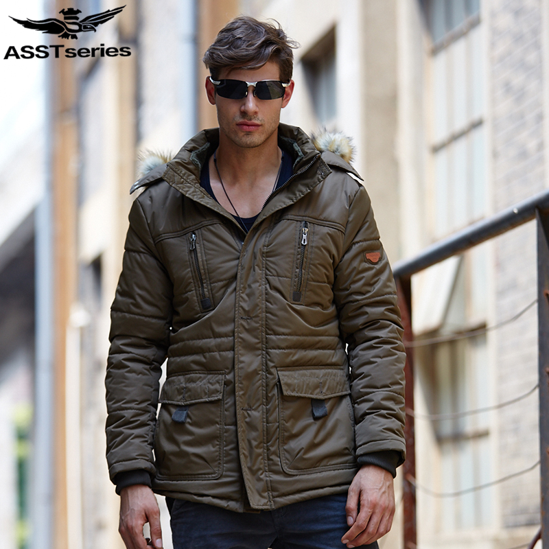 2017 Winter Jacket Men Men's Fur Hooded Parka Thickening Warm Overcoat Jackets And Coats For Men Plus Size Down Cotton Coat.DB13