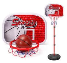 Kids Children Miniature Basketball Hoops Set Stands Adjujstable with Inflator Toys for Boys  Outdoor Fun & Sports freeshipping