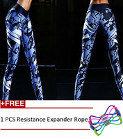New Woman Print Sports Piquant Workout Brand Leggings For Fitness High Waist Pants Narrow Prints Colorful