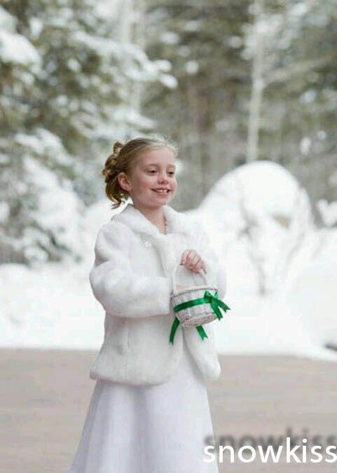 Cheap Cute 2015 font b Girls b font Cape Wedding Cloaks Faux Fur font b Jacket