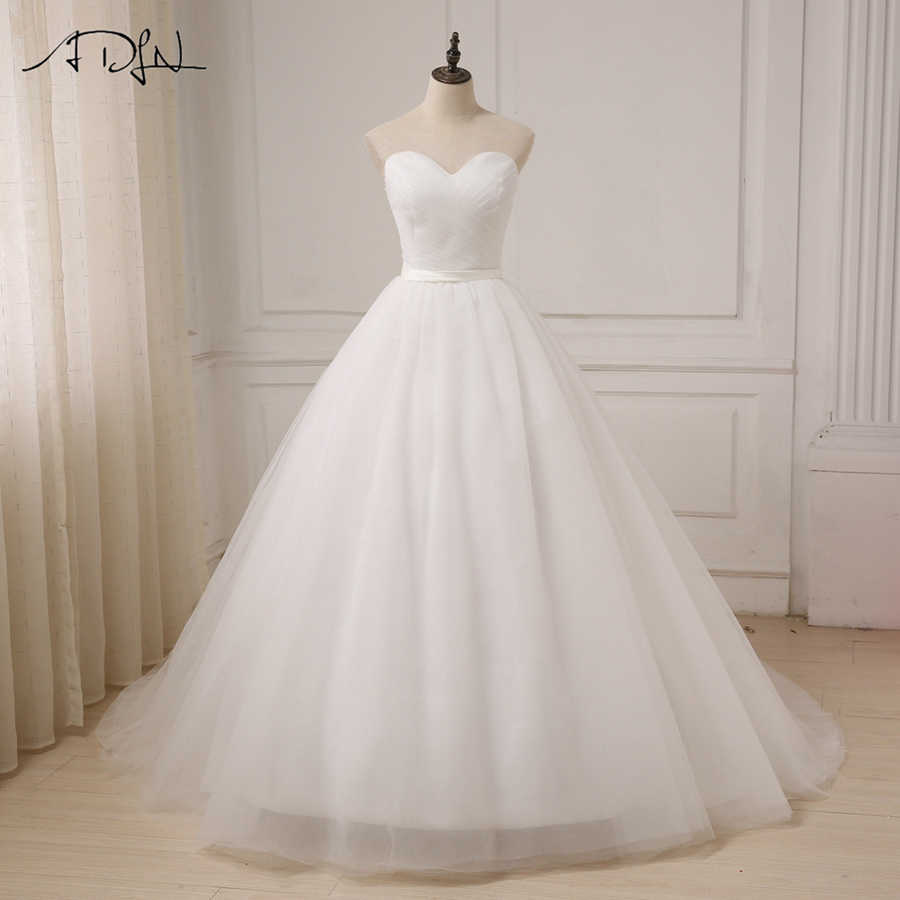 Detail Feedback Questions about ADLN Cheap Wedding Dress Top Pleats  Sweetheart A line Tulle Bridal Wedding Gowns Sweep Train Back Customized  Plus Size on ... 830b65329d01